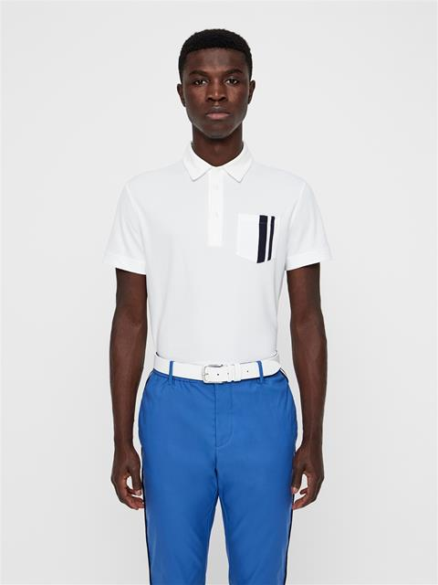 Mens Owen Lux Pique Polo White