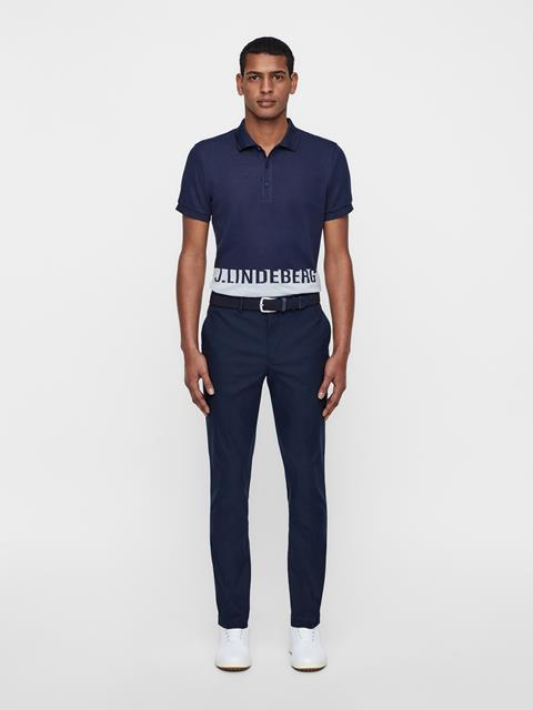 Mens Alex Cotton-Poly Jaquard Polo JL Navy