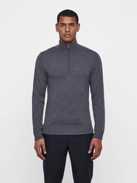 Mens Erik Tour Merino Sweater Dk Grey Melange