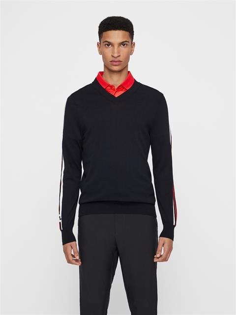 Mens Nolans Pima Cotton Sweater Black