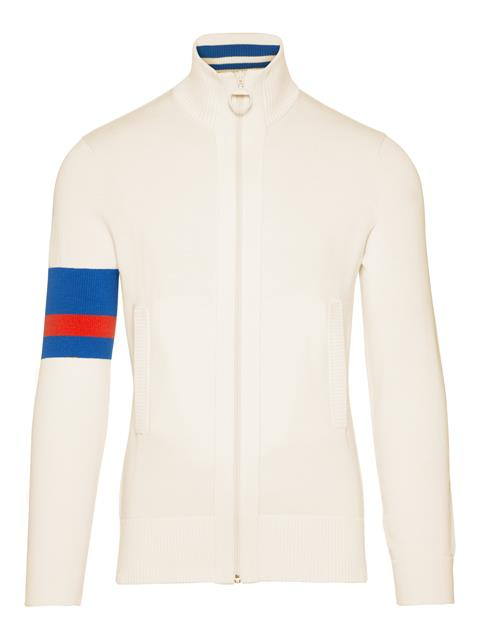 Mens Waine Cotton Coolmax Sweater Ivory White