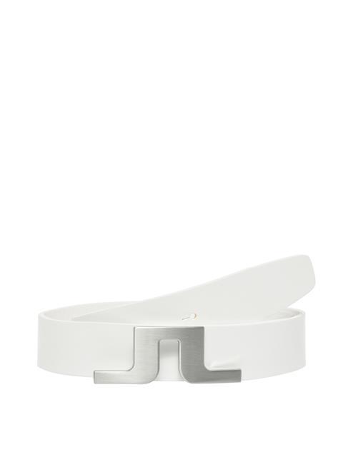 Mens Bridger White Leather Belt White