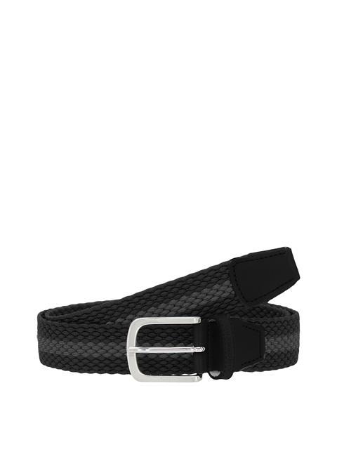Mens Hades Elastic Striped Belt Black