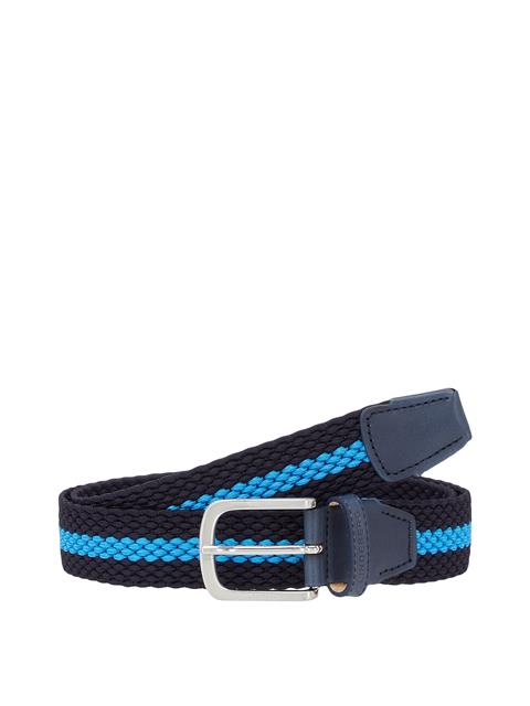 Mens Hades Elastic Striped Belt JL Navy