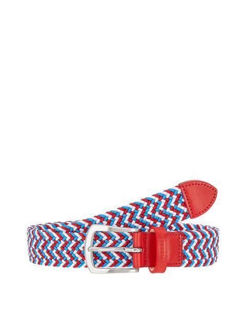 Mens Hatcher Elastic Triple Belt Deep Red