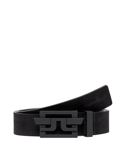 Mens New Wing Brushed Leather Belt Black