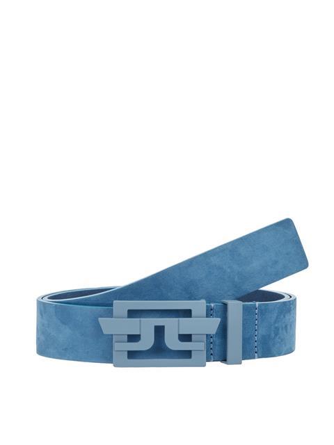 Mens New Wing Brushed Leather Belt Work Blue