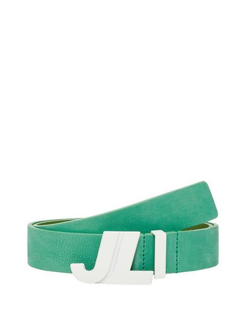 Mens JL Iconic Brushed Leather Belt Golf Green