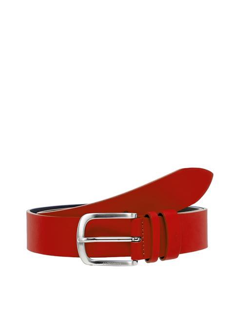 Mens Havier Matte Leather Belt Deep Red