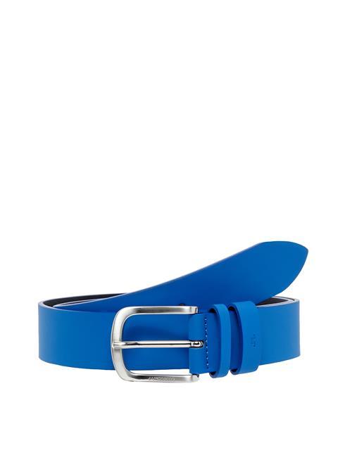 Mens Havier Matte Leather Belt Work Blue