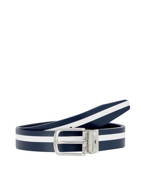 Mens Moriarty Crafted Leather Belt JL Navy