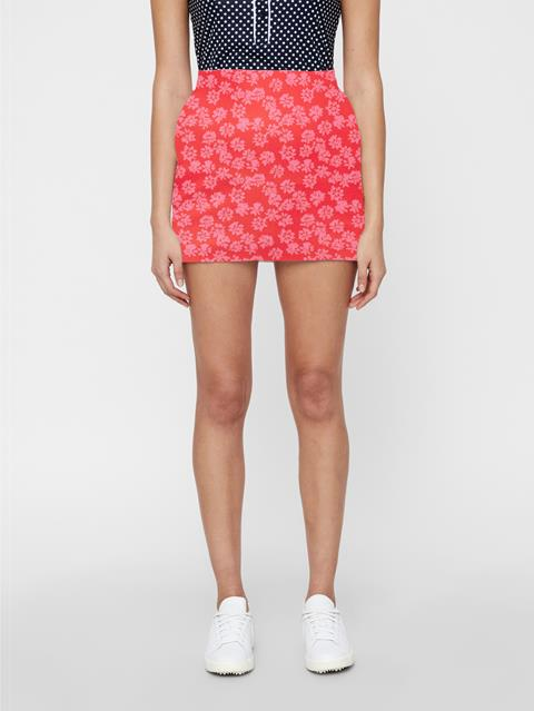 Womens Gabriela Skirt Pop Pink Flower Print