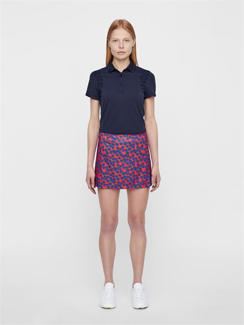 Womens Amelie Flower Print Skirt Racing Red Flower Print