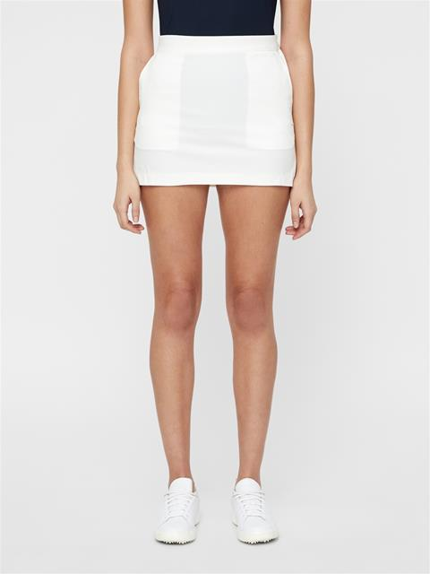 Womens Silvia High Vent Skirt White