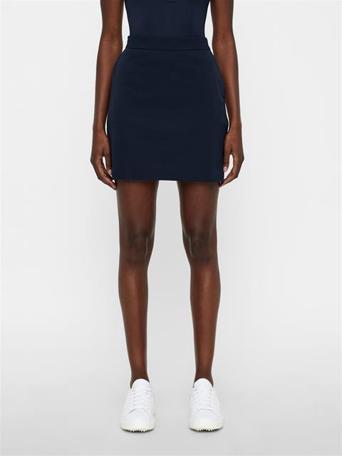 Womens Silvia High Vent Long Skirt JL Navy
