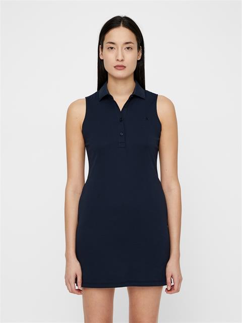 Womens Elsi Cotton-Poly Dress JL Navy