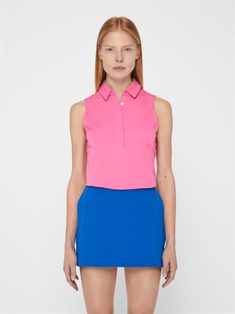 Womens Dena TX Jersey Polo Pop Pink
