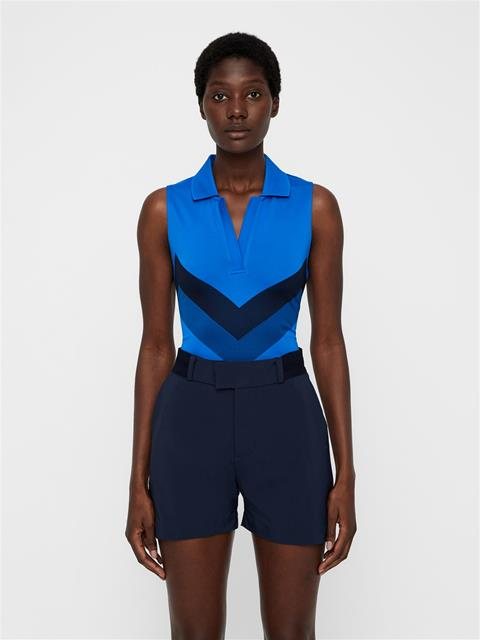 Womens Lisa TX Jaquard Polo Pop Blue