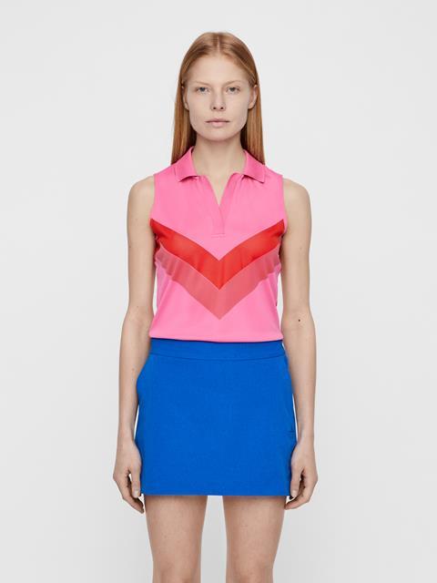 Womens Lisa TX Jaquard Polo Pop Pink