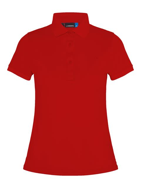 Womens Petsy Cotton-Poly Polo Deep Red