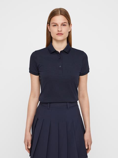 Womens Petsy Cotton-Poly Polo JL Navy