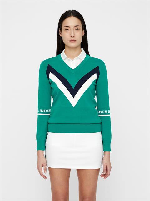 Womens Celine Sweater Golf Green