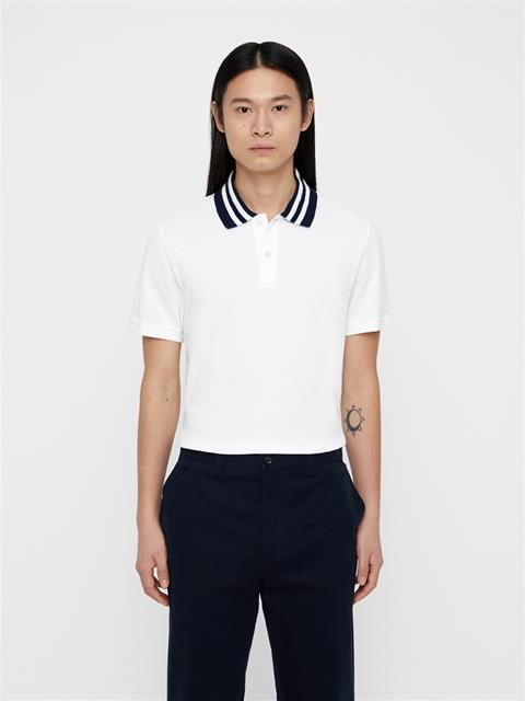 Mens Julian Fine Pique Polo White