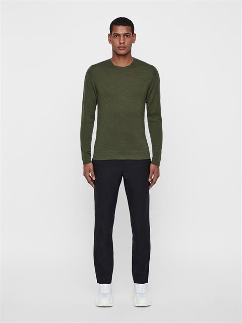 Mens Newman Crewneck Sweater Ivy Green