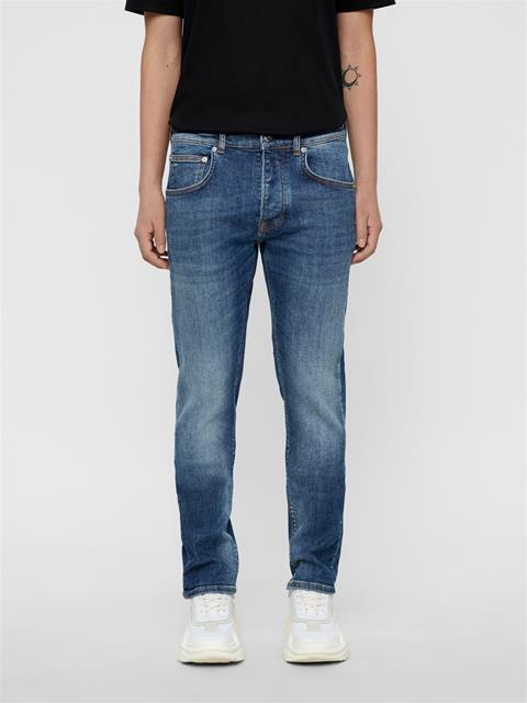 Mens Cedar Blue Form Jeans Mid Blue