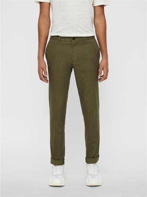 Mens Grant Cotton Linen Pants Ivy Green