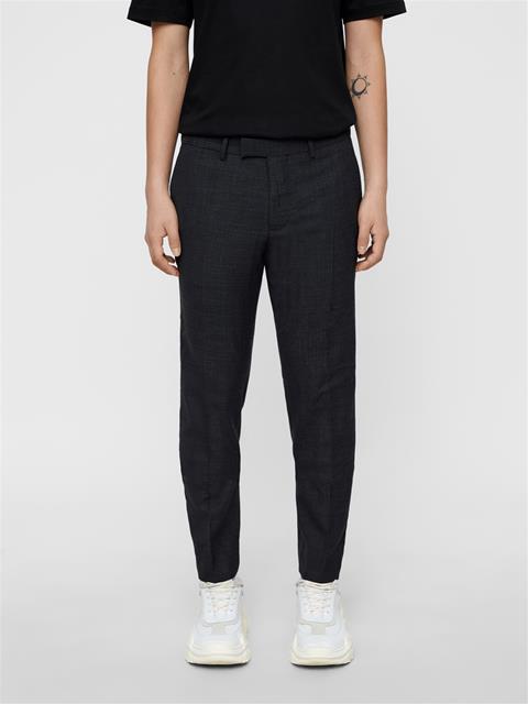 Mens Grant Micro Textured Pants Dk Grey