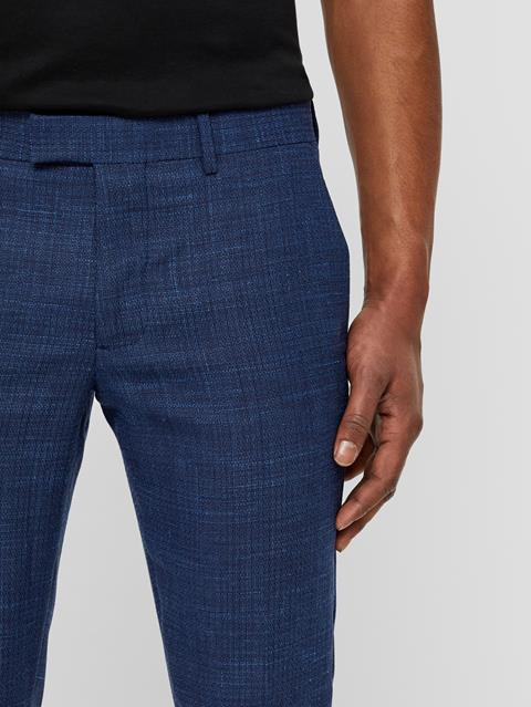 Mens Grant Micro Textured Pants Work Blue