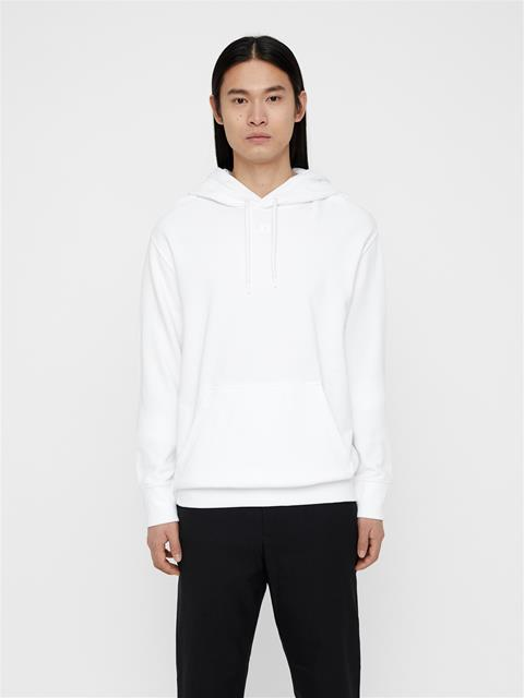 Mens Hurl Ring Loop Hoodie White