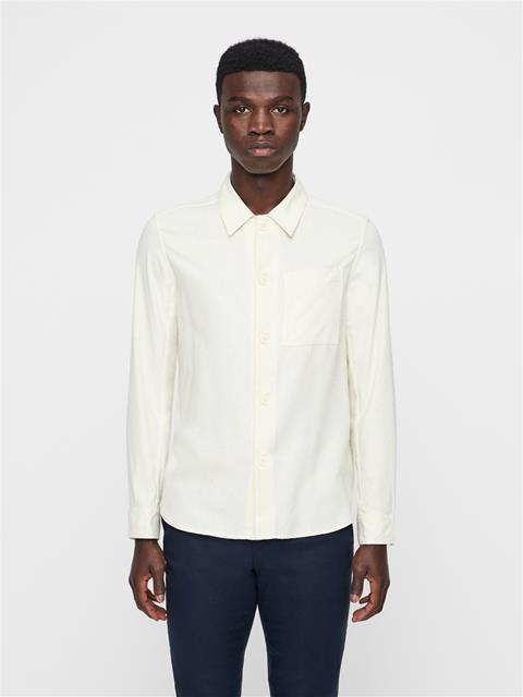 Mens John Silk Noile Overshirt Cloud Dancer