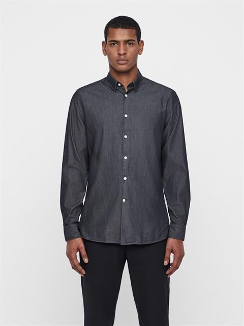 Mens Daniel Washed Indigo Shirt Black