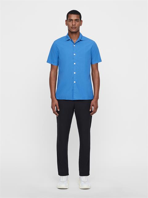 Mens David Resort Shirt Work Blue