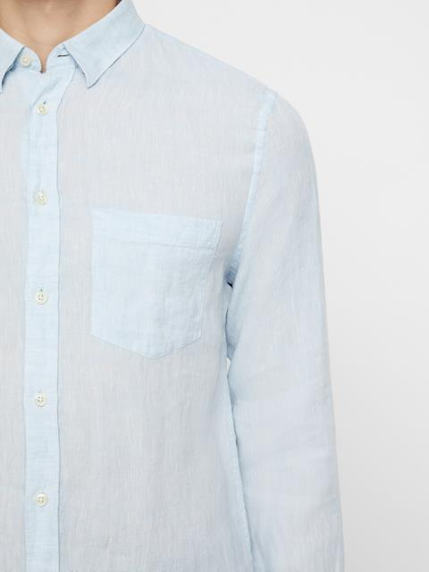 Mens Daniel Linen Melange Shirt Ice Flow