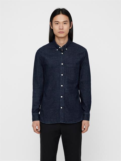 Mens Daniel Denim Shirt Mid Blue