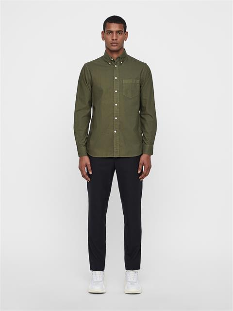 Mens David Oxford Shirt Ivy Green