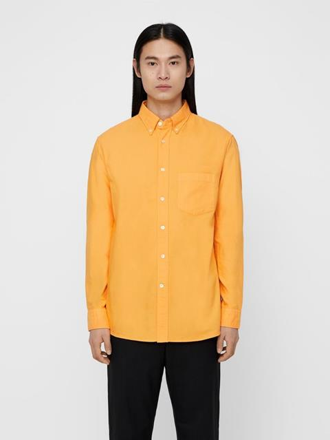 Mens David Oxford Shirt Warm Orange