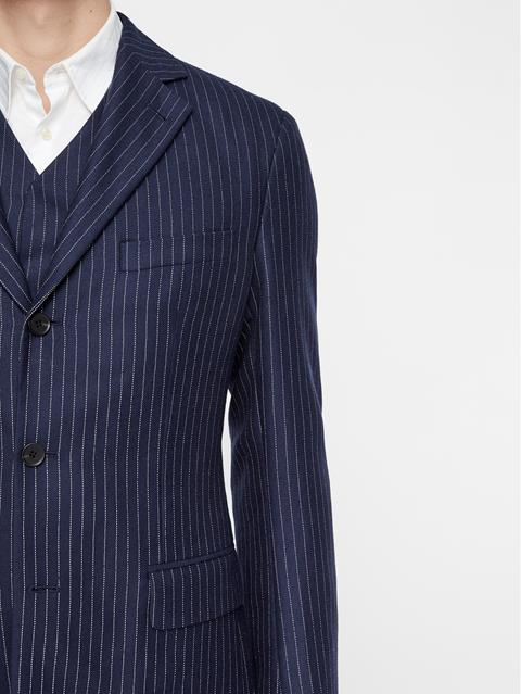 Mens Bike Reflective Wool Blazer JL NAVY