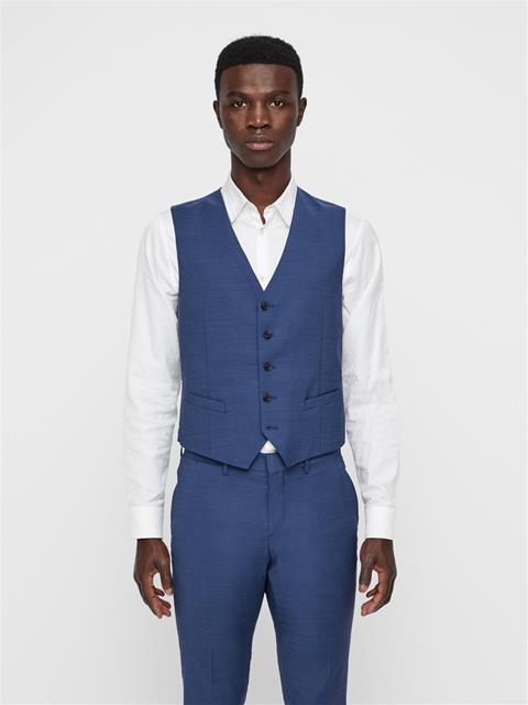 Mens Justin Comfort Wool Waistcoat MID BLUE