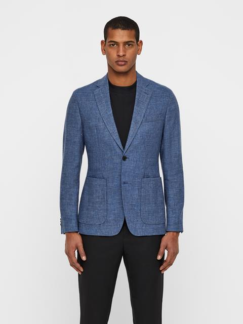 Mens Hopper Tech Linen Blazer MID BLUE