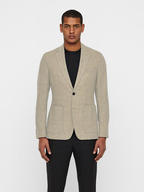 Mens Hopper Tech Linen Blazer WHITE PEPPER