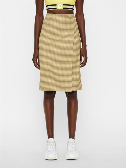 Womens Silva Microcheck Pencil Skirt Desert Dunes