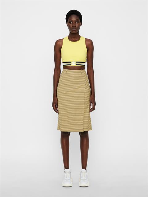 Womens Silva Microcheck Pencil Skirt Desert Dunes