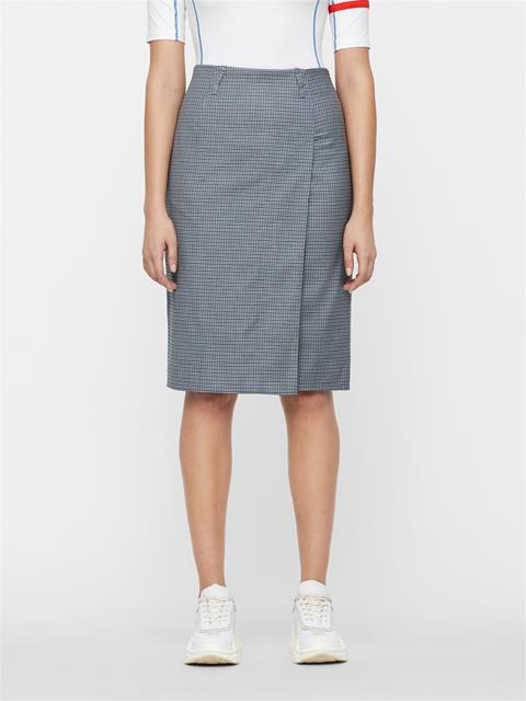 Womens Silva Microcheck Pencil Skirt JL Navy