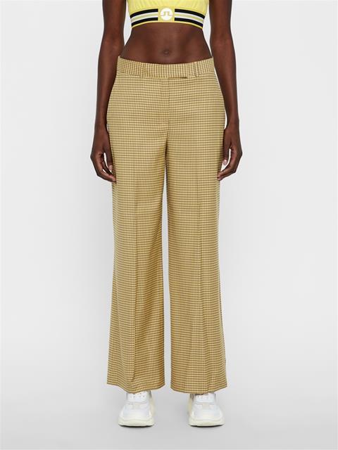 Womens Kori Microcheck Pants Desert Dunes