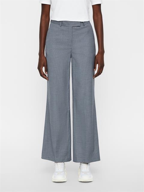 Womens Kori Microcheck Pants JL Navy