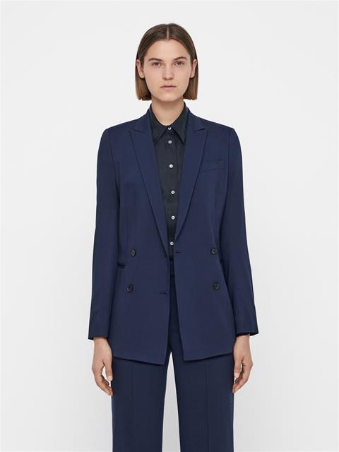 Womens Pearl Summer Wool Blazer JL Navy
